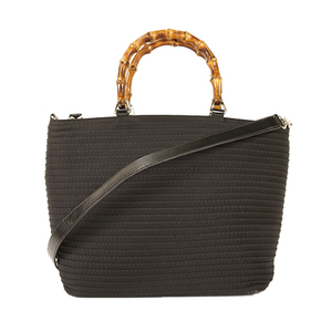 Gucci Bamboo 2WAYバッグ 2 Way Bag 001.1998.0540 Women's Nylon Handbag,Shoulder Bag Black