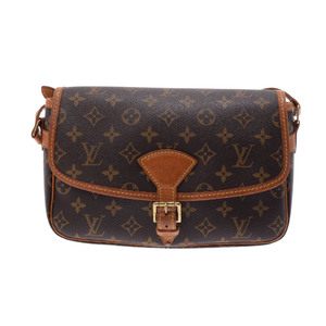 5ecb2a5e52bf Louis Vuitton Monogram Soronig Brown M42250 Ladies  real leather shoulder  bag B rank LOUIS VUITTON