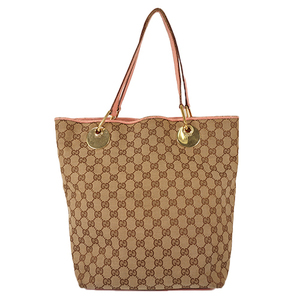 d51c6ab110a Auth Gucci Tote Bag GG Canvas Beige
