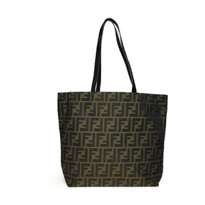 Auth Fendi Zucca 15978-1-009 Shoulder Bag,Tote Bag Brown