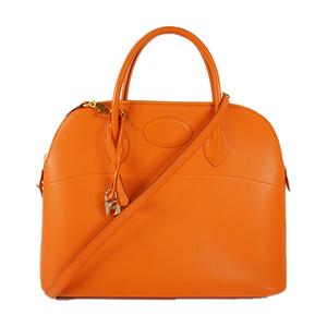 エルメス ボリード35 ハンドバッグ □B刻印 オレンジ