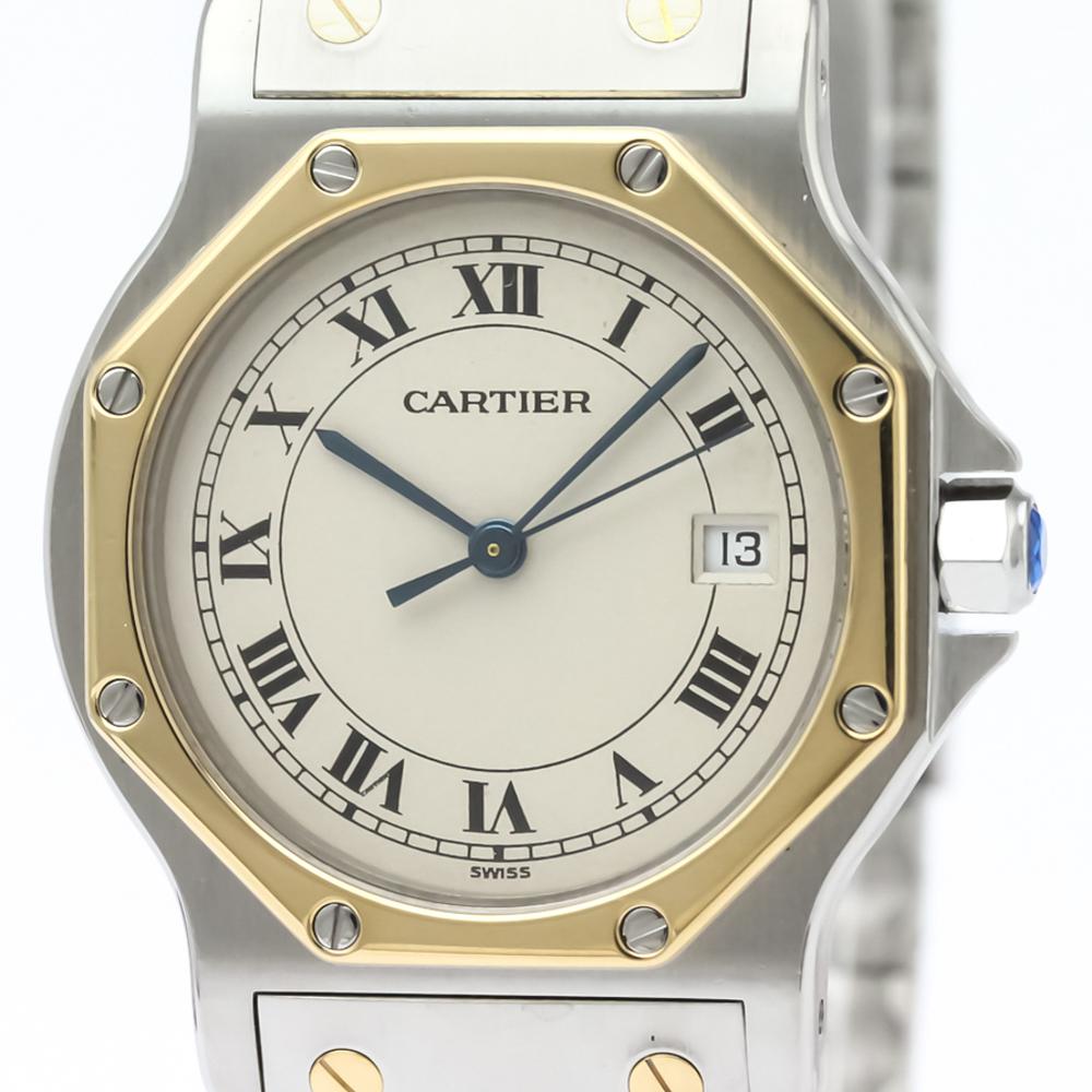 afe44175eaf Cartier Santos Octagon Quartz Stainless Steel