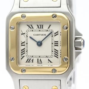 【CARTIER】カルティエ サントスガルベ SM K18 ゴールド ステンレススチール クォーツ レディース 時計
