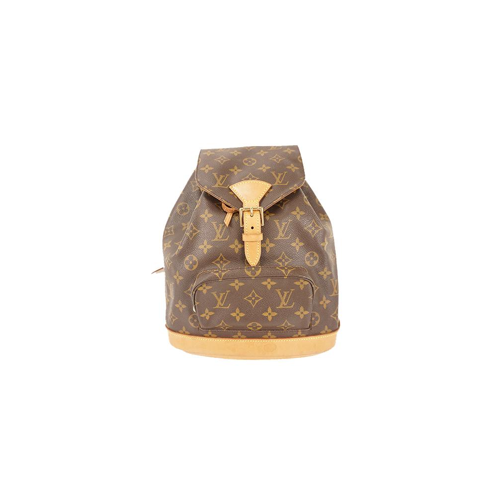 Auth Louis Vuitton Backpack Monogram Montsouris MM M51136