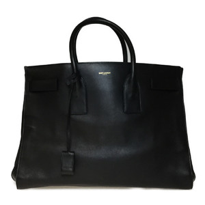 Auth Saint Laurent Tote Bag Black