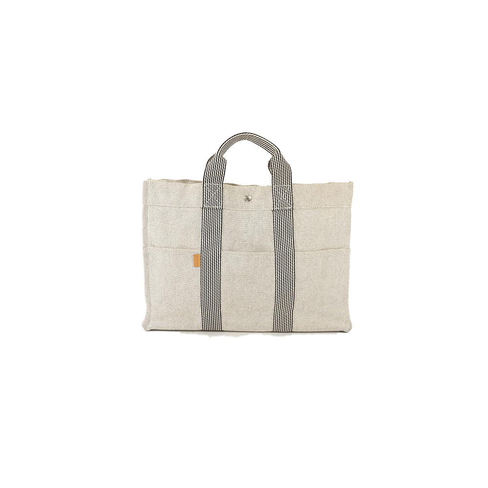 Auth Hermes New Fourre Tout MM Tote Bag Gray