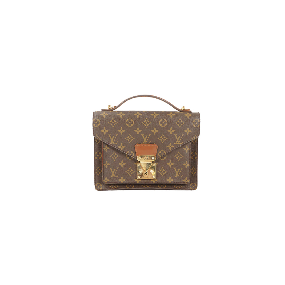 Auth Louis Vuitton Handbag Monogram Monceau M51185