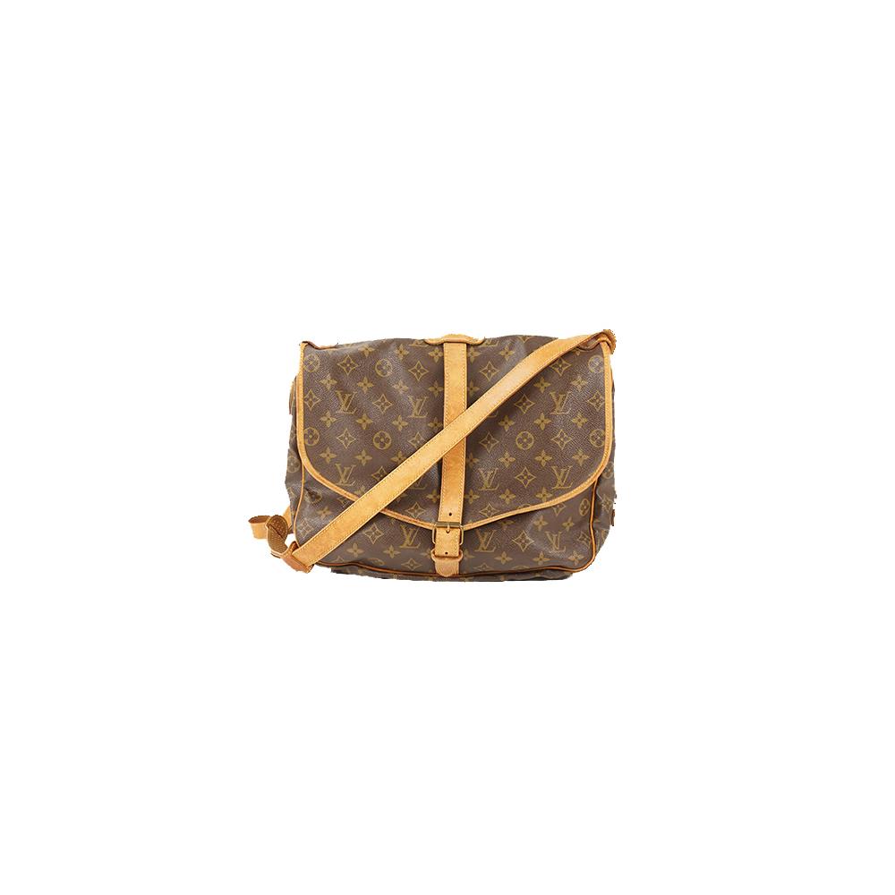 Auth Louis Vuitton Shoulder Bag Monogram Saumur 35 M42254