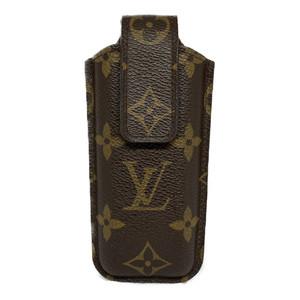 Auth Louis Vuitton Monogram Phone Case Etui Telephone M63050