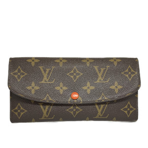 Auth Louis Vuitton Monogram Emilie Wallet M62011 Long Wallet (bi-fold) Sunrise