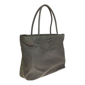 Auth Prada Nylon Handbag,Tote Bag Khaki
