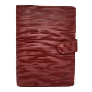 Auth Louis Vuitton Epi Planner Cover Castilian Red R20057 Agenda PM