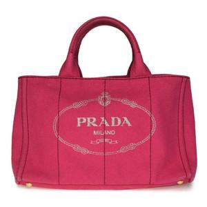 プラダ(Prada) カナパ 1BG642 キャンバス ハンドバッグ Peonia(ぺオニア)