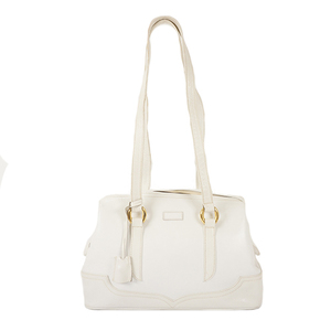 Auth Fendi Shoulder Bag White