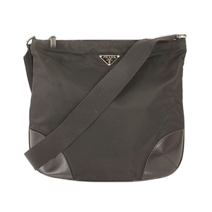 Auth Prada Shoulder Bag Black