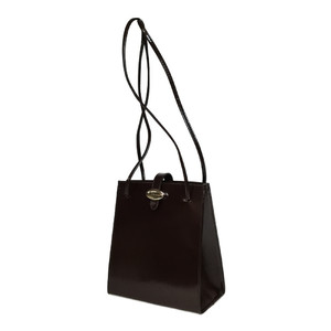 Auth Furla Handbag,Shoulder Bag Bordeaux Brown,Brown