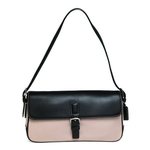 Auth Coach Semishoulder 7702 Canvas,Leather Handbag,Shoulder Bag Black,Light Pink