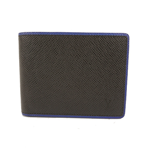 Auth Louis Vuitton Bill Wallet Taiga Portefeuille Multiple M30563