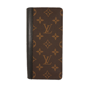 Auth Louis Vuitton Long Wallet Monogram Macassar Portefeuille  Thanon M93800