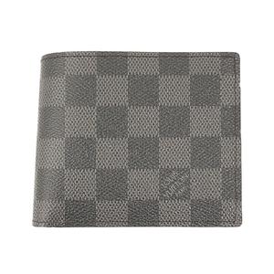 Auth Louis Vuitton Damier Graphite Portefeiulle Marco N63336