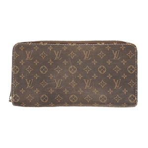 Auth Louis Vuitton Long Wallet (bi-fold) Monogram Idylle M63009 Fusain