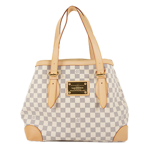 3a169faec815 Auth Louis Vuitton Tote bag Damier Azur Hampstead MM N51206