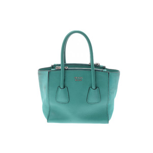 Prada Leather Handbag Green