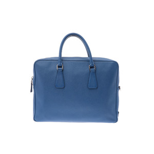 Prada Saffiano Business Bag Leather Bag Blue