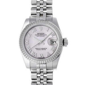 ロレックス(Rolex) デイトジャスト 自動巻き ステンレススチール(SS),ホワイトゴールド(WG) レディース 高級時計 179174NR