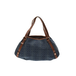 Gucci Denim,Leather Tote Bag Blue,Brown