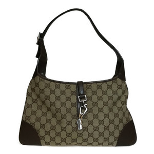 Auth Gucci 214392 GG Canvas Shoulder Bag Brown GG