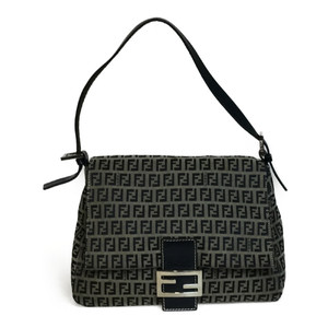 Fendi Mamma baguette 8BR001 Canvas Shoulder Bag