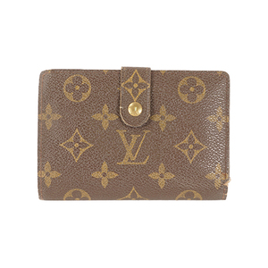 Auth Louis Vuitton Wallet Monogram Portefeuille Viennois M61674