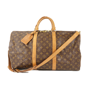 Auth Louis Vuitton Boston Bag Monogram Keepall bandouliere 50 M41416