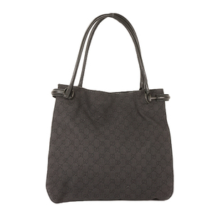 Auth Gucci Tote Bag GG Canvas Black 101346