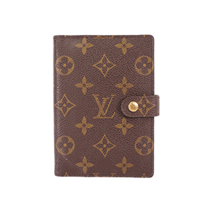 Auth Louis Vuitton Planner Cover Monogram Agenda PM R20005