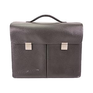 Auth Louis Vuitton Brief Case Taiga Khazan M30802 Ardoise