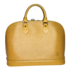Auth Louis Vuitton Epi M40866 AlmaBB Handbag Citrin,Yellow