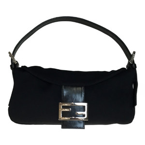Auth Fendi Mamma bucket 2305 26725 008 Handbag Black