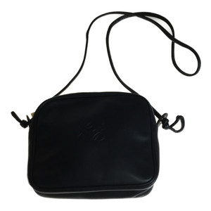 Auth Loewe Leather Bag Black Shoulder Bag