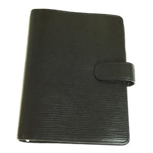 Auth Louis Vuitton Epi Planner Cover Noir Agenda MM R20042