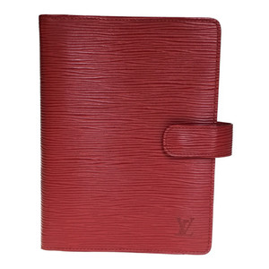 Auth Louis Vuitton Epi Planner Cover Red R2004E アジェンダMM