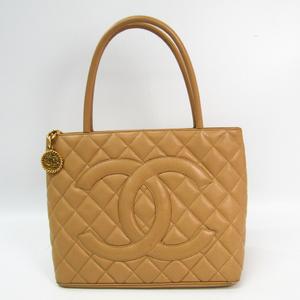シャネル(Chanel) キャビア・スキン 1804復刻トート A01804 レディース キャビアスキン トートバッグ ベージュ