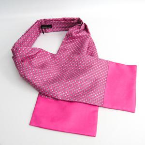 エルメス(Hermes) アスコットタイ ユニセックス シルク スカーフ ピンク,ホワイト