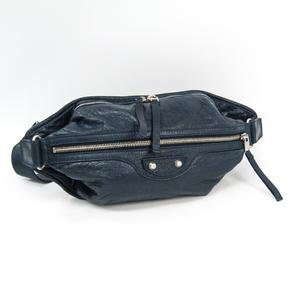 Balenciaga NEO LIFT  341628 Men's Leather Fanny Pack Navy
