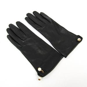 グッチ(Gucci) レディース 手袋 ブラック レザー