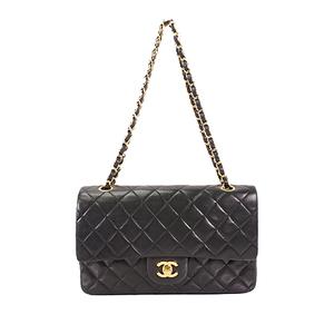 fd320e9d616 Auth Chanel Matelasse Chain shoulder Bag W Flap W Chain Shoulder Gold Black