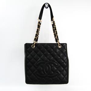 シャネル(Chanel) キャビア・スキン プチ ショッピング トート PST A20994 レディース キャビアスキン トートバッグ ブラック