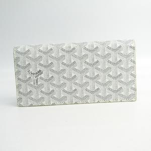 Goyard Richelieu Leather,Canvas Long Wallet (bi-fold) White