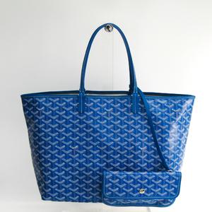 ゴヤール(Goyard) サン・ルイ PM レザー,キャンバス トートバッグ ブルー